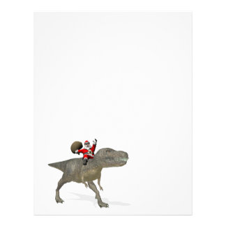 Santa Claus Riding On Trex Letterhead