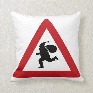 Santa Claus Sign, Dröbak, Norway Throw Pillow