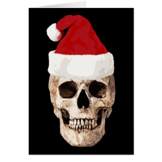 Santa Claus Skull - Christmas is Dead Card