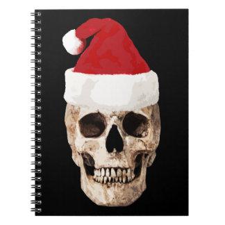 Santa Claus Skull - Christmas is Dead Notebook