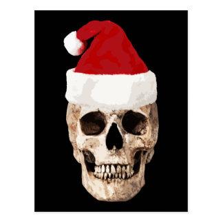 Santa Claus Skull - Christmas is Dead Postcard