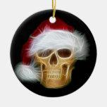 Santa Claus skull Christmas Tree Ornaments