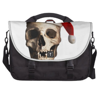 Santa Claus Skull Hat Skeleton Bag For Laptop