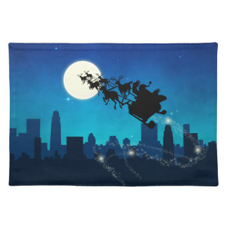 Santa Claus Sleigh Christmas - Cloth Placemat