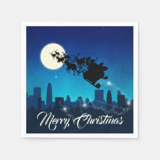 Santa Claus Sleigh Christmas - Paper Napkin