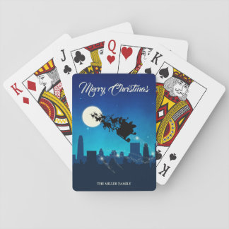 Santa Claus Sleigh Christmas - Playing Card Deck