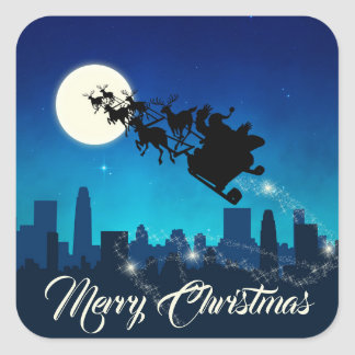 Santa Claus Sleigh Christmas - Sticker
