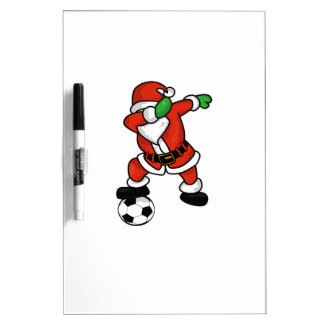 Santa Claus soccer dab dance ugly christmas T-shir Dry Erase Board