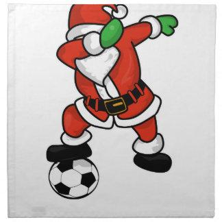 Santa Claus soccer dab dance ugly christmas T-shir Napkin
