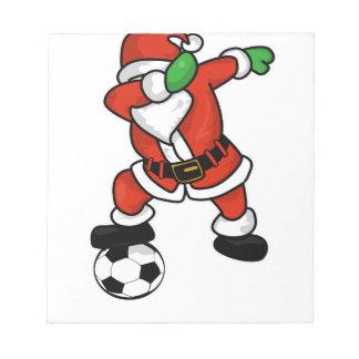 Santa Claus soccer dab dance ugly christmas T-shir Notepad