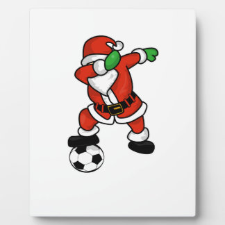 Santa Claus soccer dab dance ugly christmas T-shir Plaque