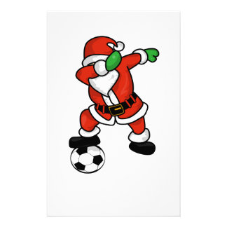 Santa Claus soccer dab dance ugly christmas T-shir Stationery