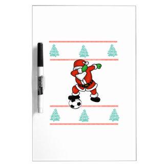 Santa Claus soccer dab ugly Christmas 2018 T-Shirt Dry Erase Board