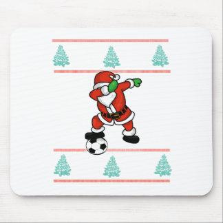 Santa Claus soccer dab ugly Christmas 2018 T-Shirt Mouse Pad