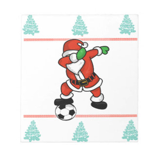 Santa Claus soccer dab ugly Christmas 2018 T-Shirt Notepad