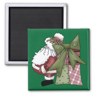 Santa Claus St Nick Jolly Merry Christmas Magnet