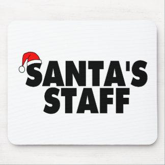 Santa Claus Staff Mousepad