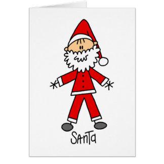 Santa Claus Stick Figure Card