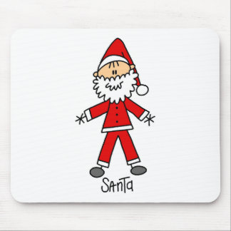 Santa Claus Stick Figure Mousepad