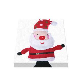 Santa Claus Strikes A Pose Stretched Canvas Print