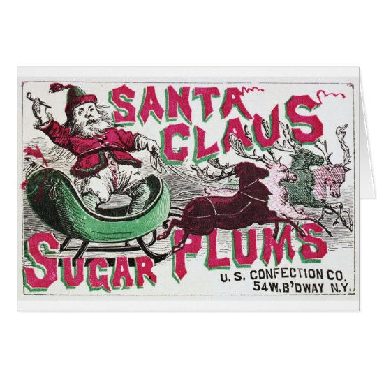Santa Claus Sugar Plums Card