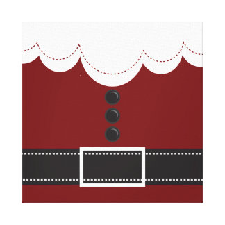 Santa Claus Suit Christmas Holiday Design Canvas Print