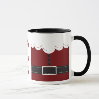 Santa Claus Suit Christmas Holiday Design Mug