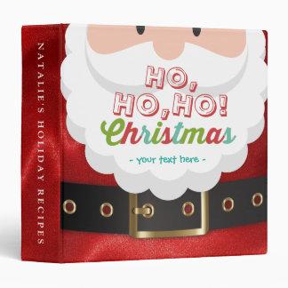 Santa Claus Suit Ho Ho Ho Christmas Happy New Year 3 Ring Binders