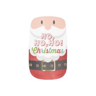 Santa Claus Suit Ho Ho Ho Christmas Happy New Year Minx Nail Art