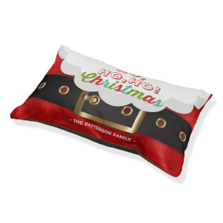 Santa Claus Suit Ho Ho Ho Christmas Happy New Year Pet Bed
