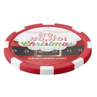 Santa Claus Suit Ho Ho Ho Christmas Happy New Year Poker Chips