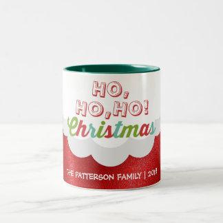 Santa Claus Suit Ho Ho Ho Christmas Happy New Year Two-Tone Coffee Mug
