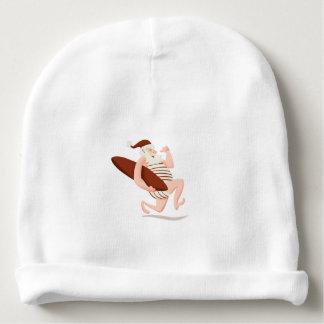 Santa claus surfing-santa claus cartoon-santa run baby beanie