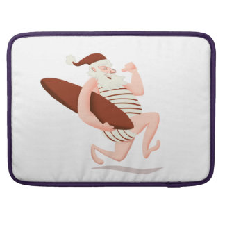 Santa claus surfing-santa claus cartoon-santa run sleeve for MacBooks