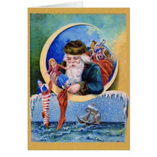 Santa Claus Toys NoteCard Stationery Note Card
