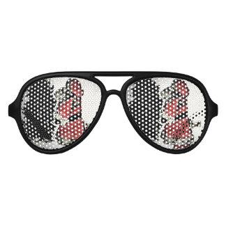 santa claus & tree aviator sunglasses