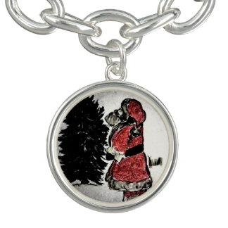 santa claus & tree bracelets