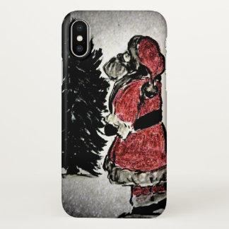 santa claus & tree iPhone x case