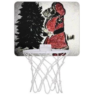 santa claus & tree mini basketball hoop