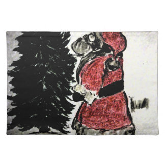 santa claus & tree placemat