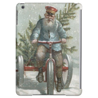 Santa Claus Tricycle Delivering Christmas Tree iPad Air Cover