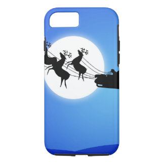 Santa Claus Tropical Christmas Tree iPhone 8/7 Case