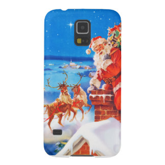 Santa Claus Up On The Rooftop In The Snow Galaxy S5 Case