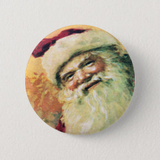 Santa Claus Vintage Christmas 2 Inch Round Button