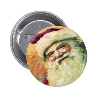 Santa Claus Vintage Christmas 2 Inch Round Button