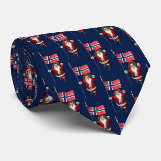 Santa Claus Visiting Norway Tie