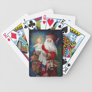 Santa Claus with Christ Child Bicycle Playing Cards