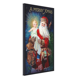 Santa Claus with Christ Child Stretched Canvas Print