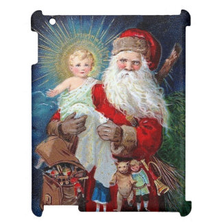 Santa Claus with Christ Child iPad Cases