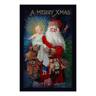 Santa Claus with Christ Child Poster